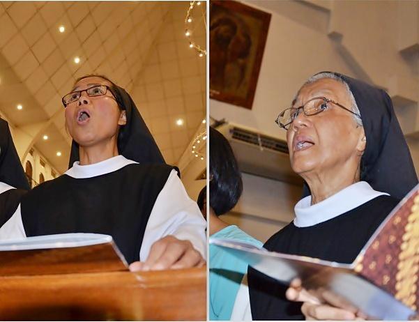 Suster Trappistin di salve agung tahbisan uskup KAS