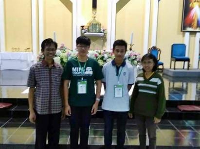Foto bersama di dalam Gereja St. Yoseph Purwokerto (31/07/2017)
