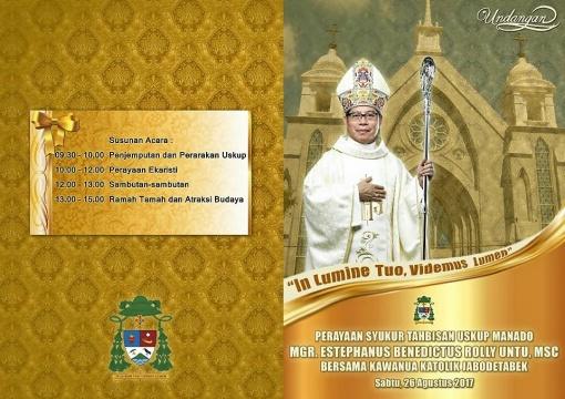 Undangan Tahbisan Uskup Manado
