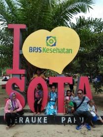 Keluarga Bu Davota di Sota, Merauke (perbatasan RI-PNG)