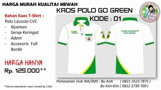Kaos Go Green Sanyos