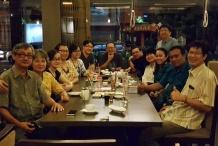 Makan malam bersama timker Kerasulan Keluarga dan tim Rm Erwin
