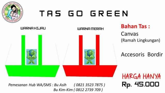 Tas Go Green Sanyos