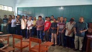 Para penghuni Panti Sahabat Kita memperkenalkan diri (29/11/2017)