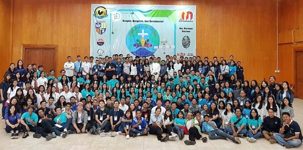 OMK Dekanat Tengah Keuskupan Purwokerto seusai acara TEMON 2018