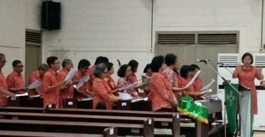 Koor Ling Paulus dalam misa Jumper 020818