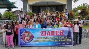Umat Markus di kompleks Gua Maria Gantang Sawangan Muntilan (211018)