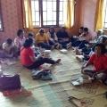 Ziarah Ling Markus-makan di rumah umat Sawangan Muntilan