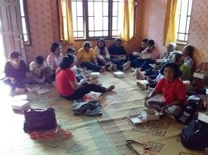 Makan bersama di rumah umat Gantang Sawangan Muntilan