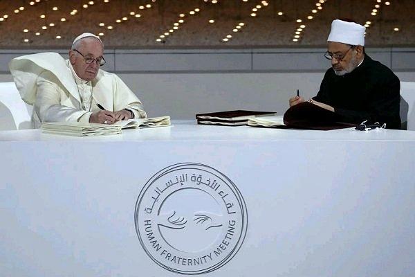 Penandatangan Deklarasi Persaudaraan di Abu Dhabi