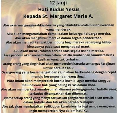 12 Janji Hati Kudus Yesus