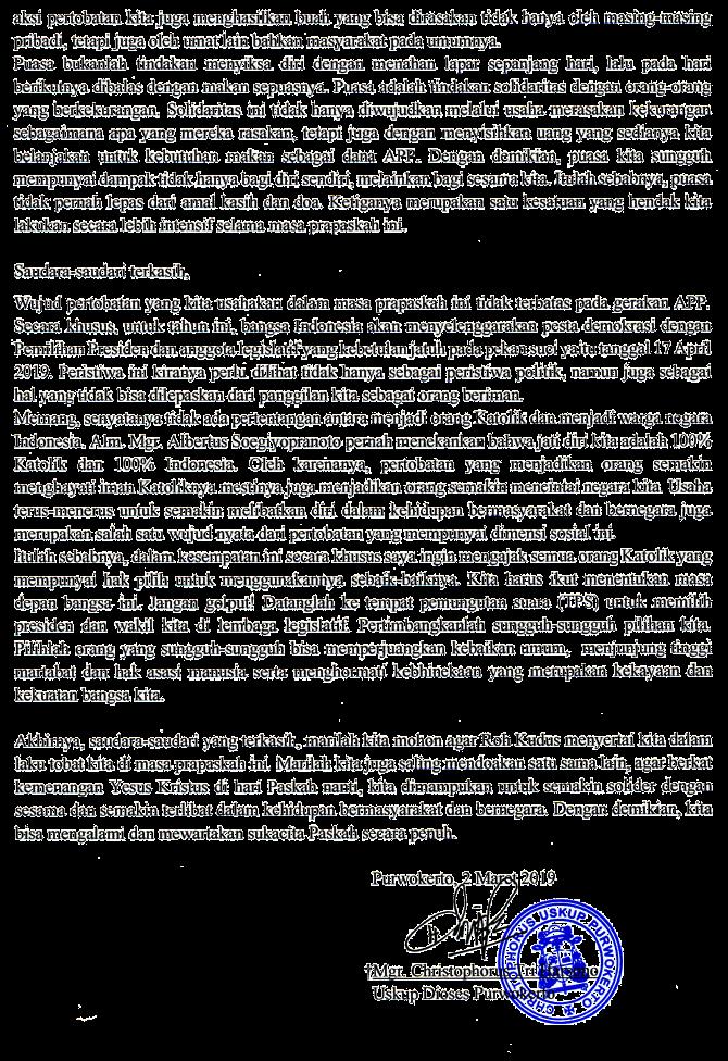 Surat Gembala Prapaskah 2019 - page 2