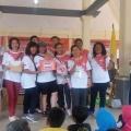 Lucia juara I lomba Yel-Yel dan Kostum di Acara Jalan Sehat HUT Sanyos ke 55