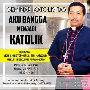 Seminar Katolisitas 28 April 2019