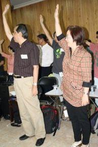 Pak Yan dan Bu Dian di pelatihan Public Speaking