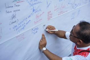 Pesan damai, persatuan, kebinekaan dan ke-Indonesiaan