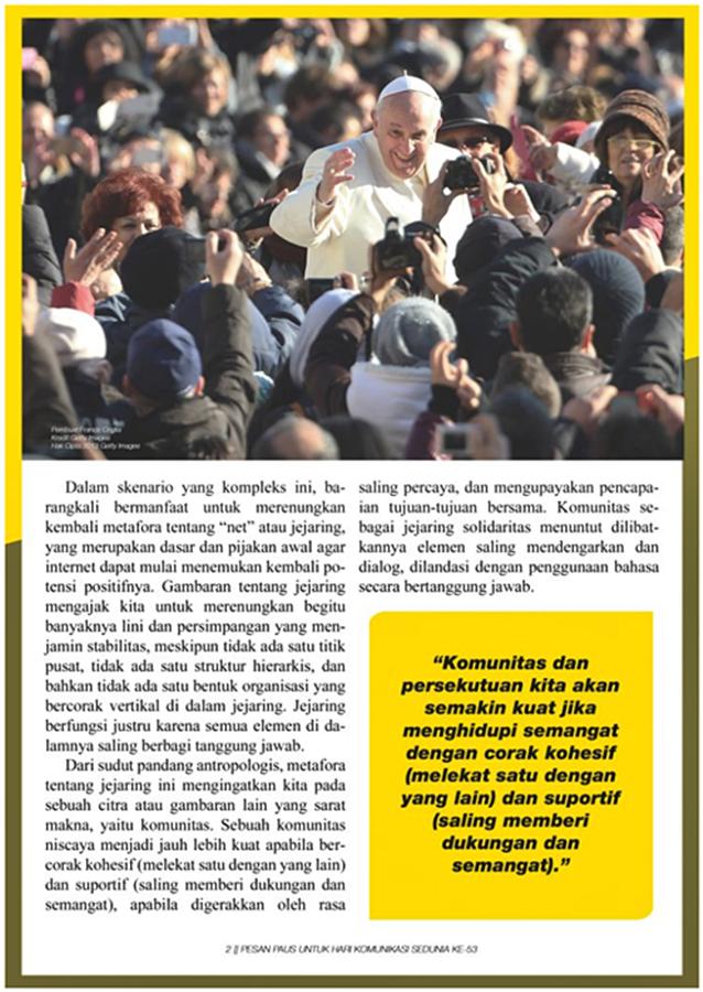 Pesan Paus Untuk Hari Komunikasi Sedunia ke-53 – hlm 2