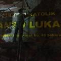 Pemasangan nama gereja Stasi St Lukas-3