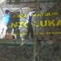Pemasangan nama gereja Stasi St Lukas-4