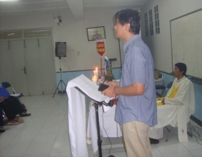 Pelantikan RPR-sambutan Bpk Hence koordinator timker Kategorial