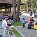 Berdoa di Candi HKY Ganjuran