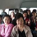 Dalam perjalanan di minibus