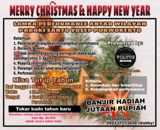 Flyer Acara Tahun Baruan