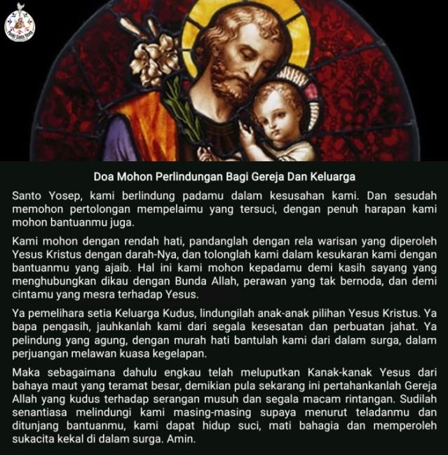 Doa Mohon Perlindungan St. Yosep Bagi Gereja Dan Keluarga
