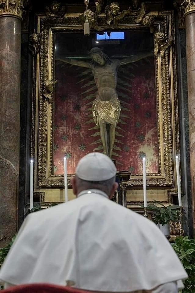 Paus Fransiskus di Roma-Minggu 15032020-2