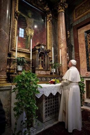 Paus Fransiskus di Roma-Minggu 15032020-4