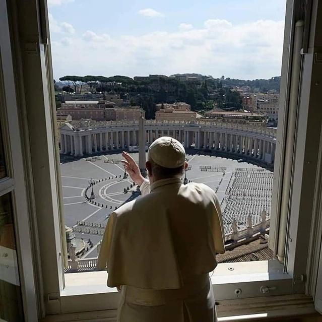 Paus Fransiskus memberkati kota Roma-Minggu 15032020-5