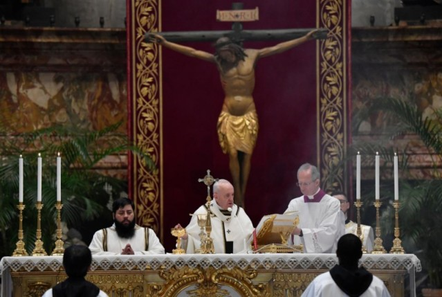 Paus Fransiskus-Misa Paskah pagi